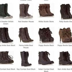 Boots for gals in many styles.