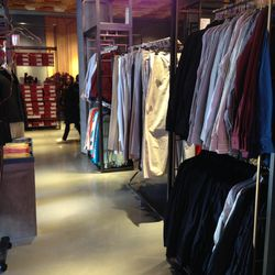 The men's apparel section