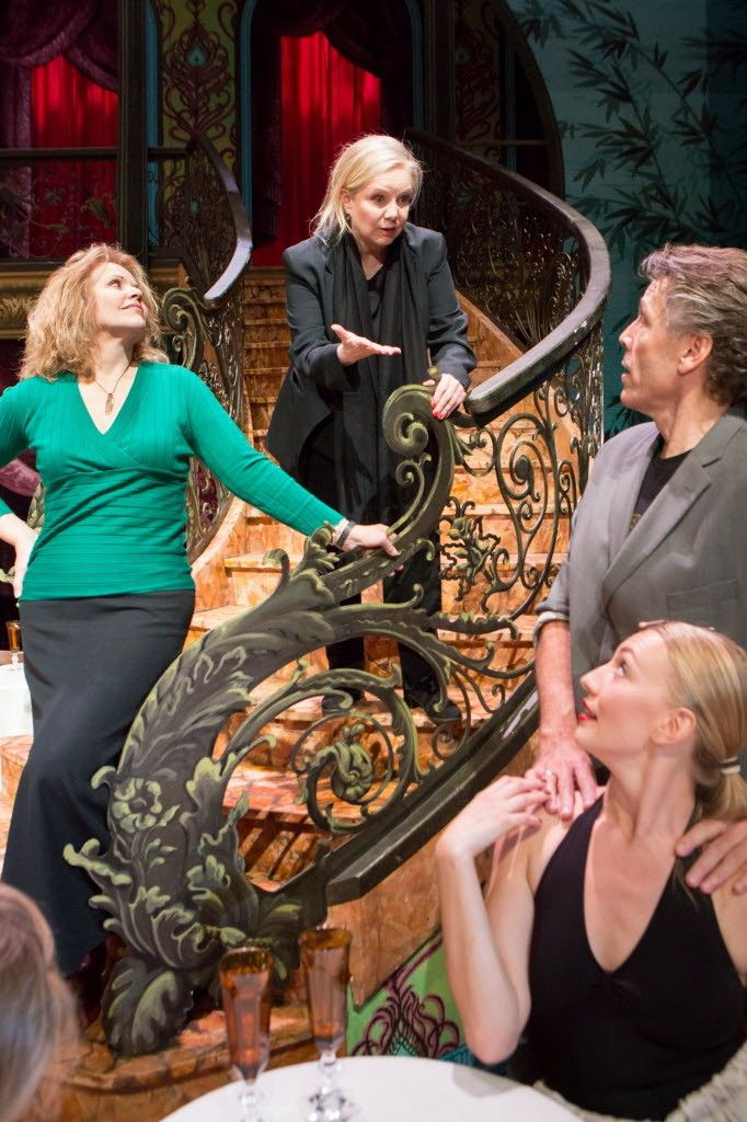 """Director Susan Stroman (top center), with Renee Fleming (from left), Thomas Hampson, and cast dancers in a rehearsal at the Lyric Opera for """"The Merry Widow.""""   Photo: James Foster for the Sun-Times"""