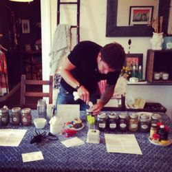 Store co-owner Pete Colling preps the ingredients