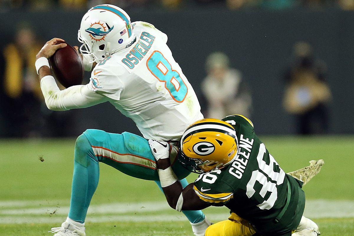 brand new 82264 14efc Packers Week 10 Snap Counts: Raven Greene impresses, Aaron ...