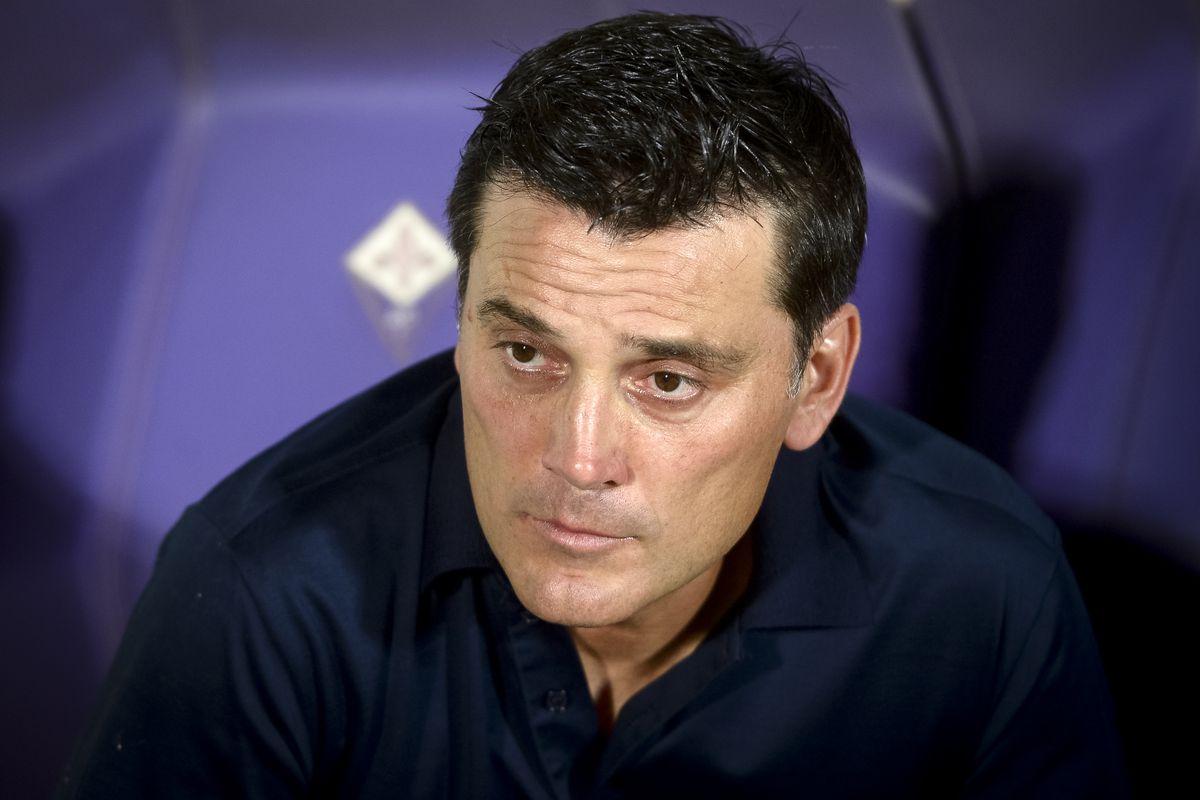 Vincenzo Montella, head coach of ACF Fiorentina, looks on...
