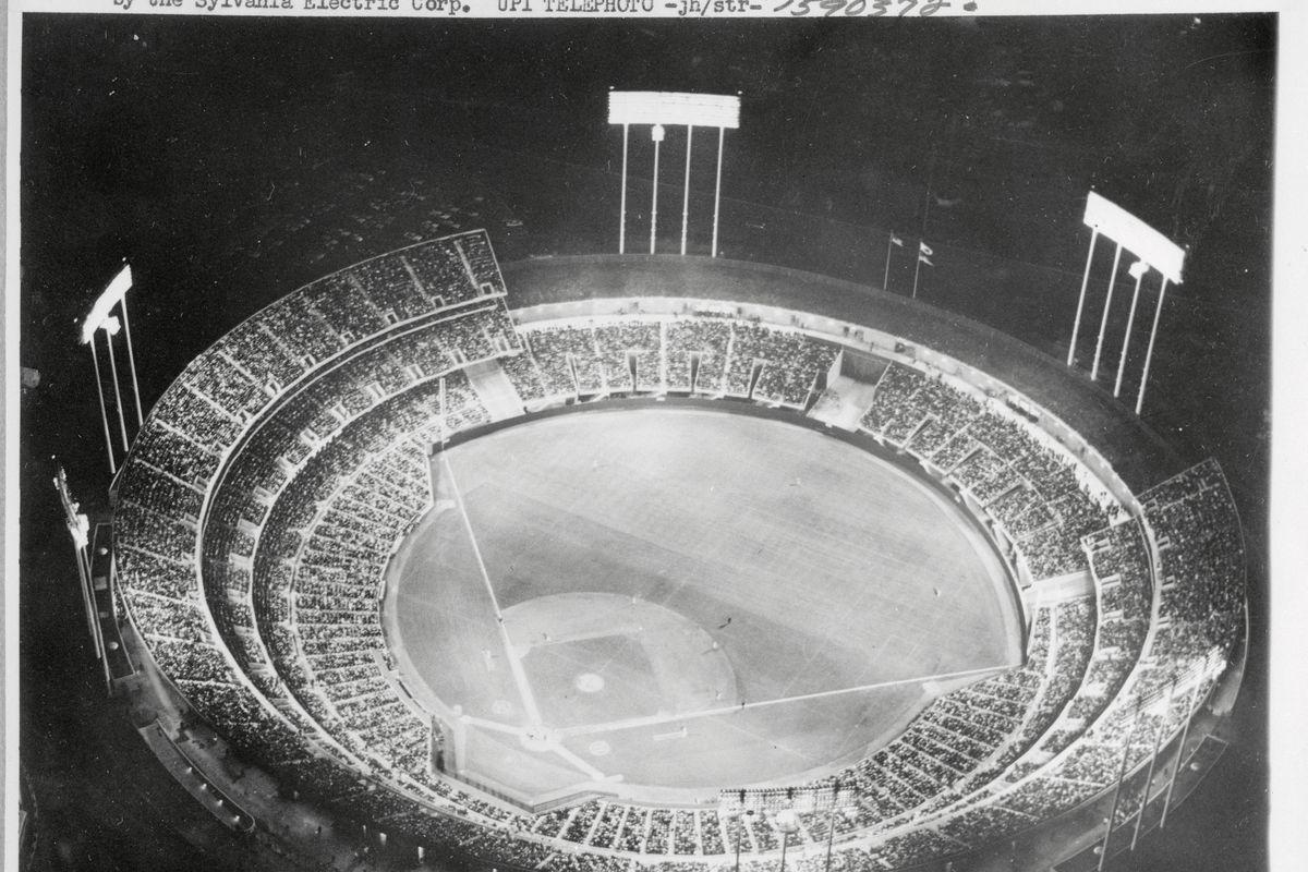 View of Alameda County Stadium at Night