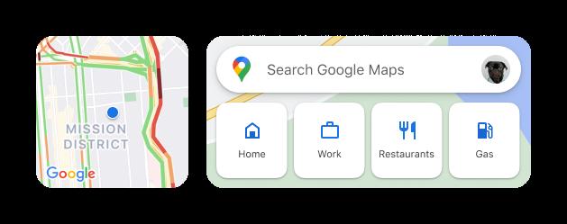 Neue Widget-Optionen für Google Maps bei iOS