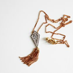 Lulu Frost deco scroll necklace, $93 (from $215)