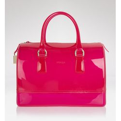 """<b>Furla</b> Candy Satchel in dragon fruit, <a href=""""http://www1.bloomingdales.com/shop/product/furla-satchel-candy?ID=591631&CategoryID=22559#fn=spp%3D3%26ppp%3D96%26sp%3D1%26rid%3D59"""">$228</a> at Bloomingdale's"""