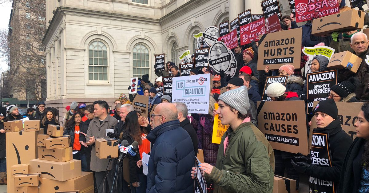 Amazon protests in nyc