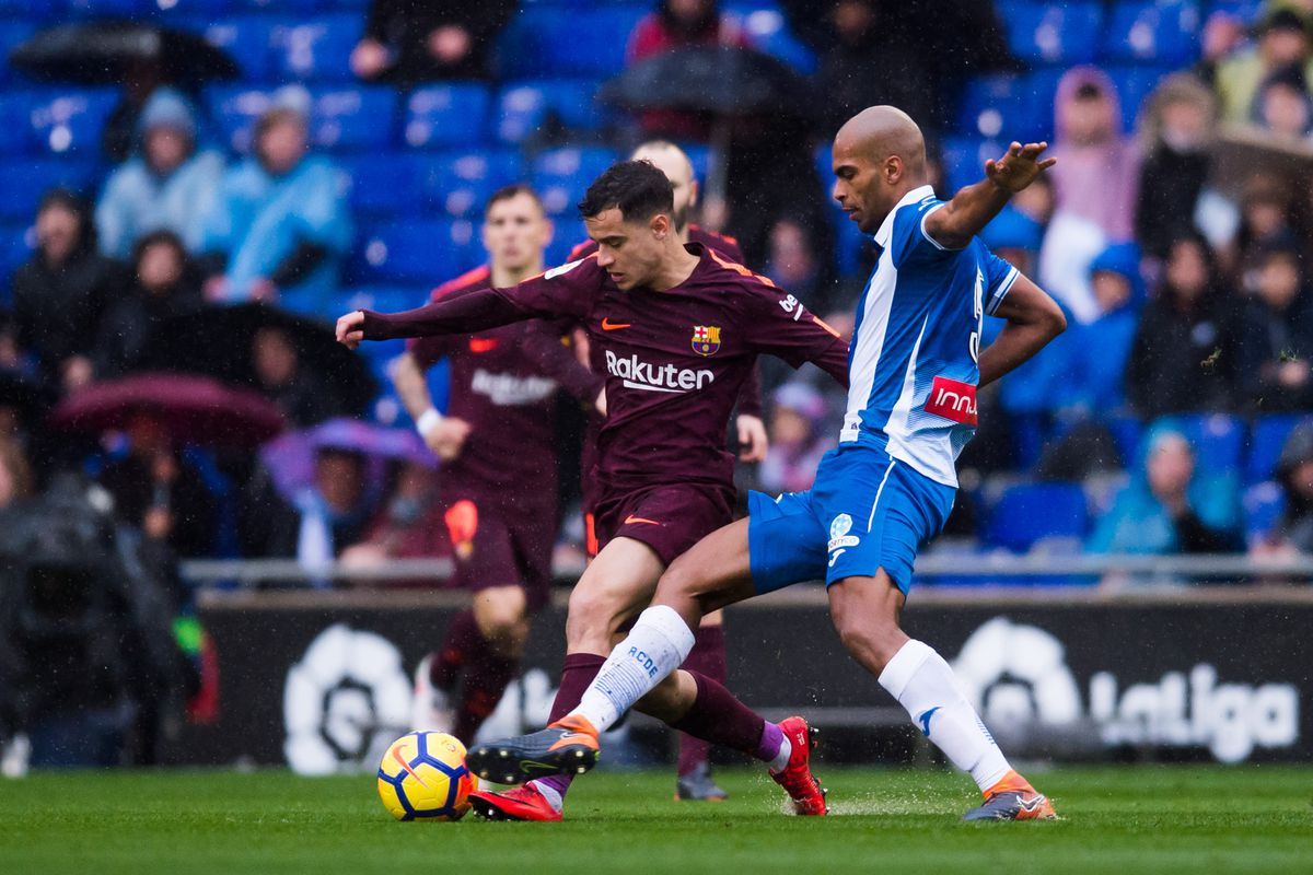 Image result for coutinho hit woodwork at espanyol