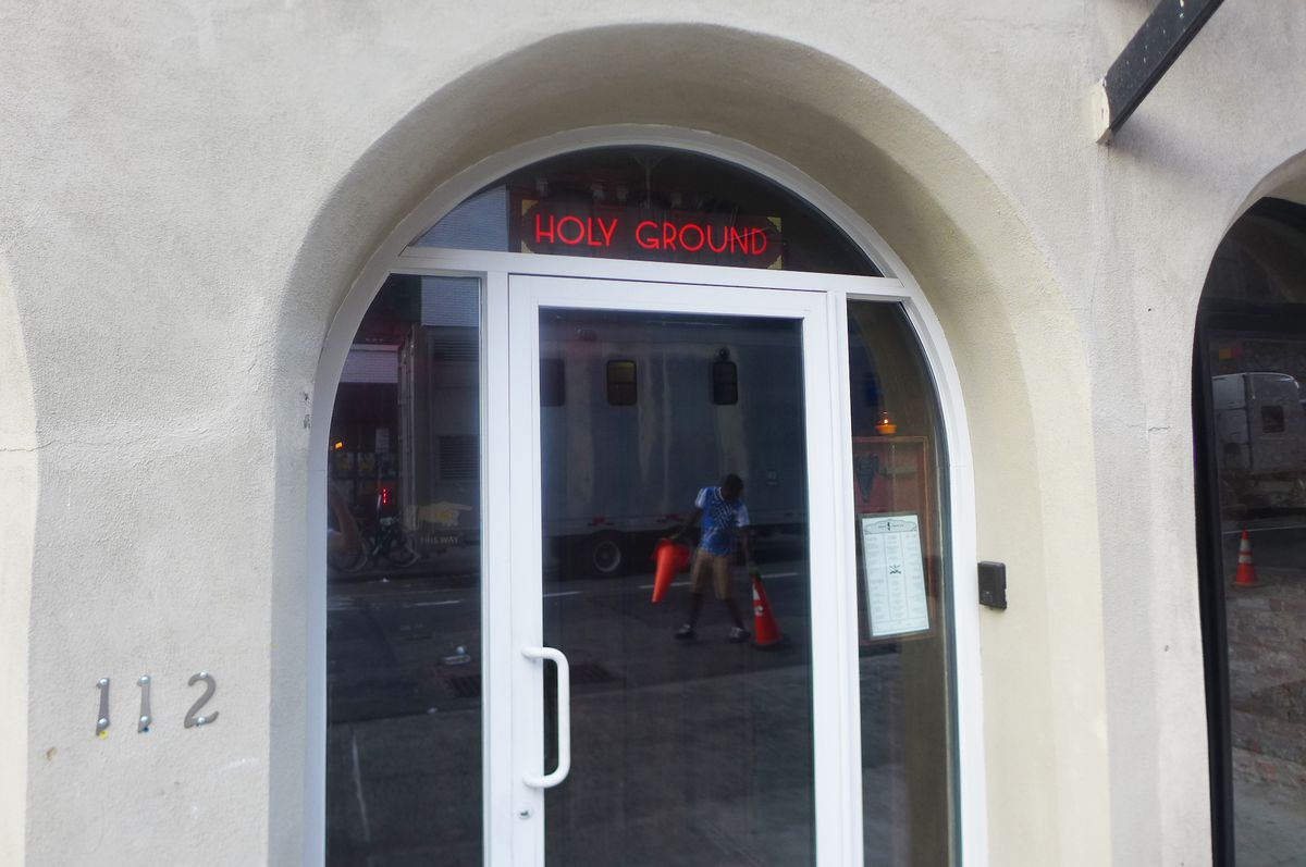 The entrance to Holy Ground is an essay in subtlety.