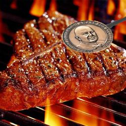 <b>Steak Brands</b>:  A nice way to remind your guests that you're an award-winning chef.  Also helps justify pricey cuts of beef.