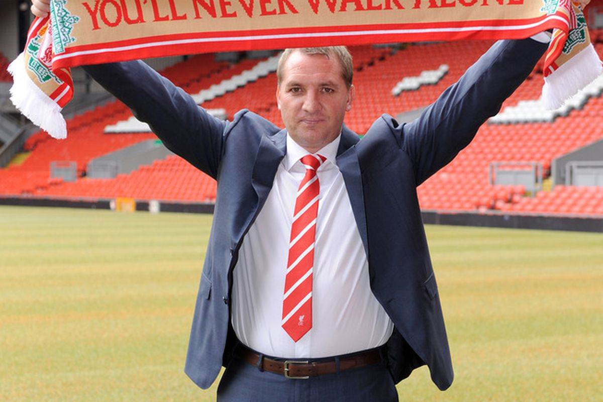 LIVERPOOL, UNITED KINGDOM - JUNE 01:  Brendan Rodgers is unveiled as the new Liverpool FC manager at a press conference at Anfield on June 01, 2012 in Liverpool, England. (Photo by Clint Hughes/Getty Images)