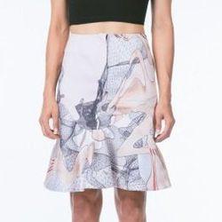 "<b>ANTHOM</b> Ruffle Skirt, <a href=""http://www.shopanthom.com/silk-ruffle-pencil-skirt"">$284</a>"