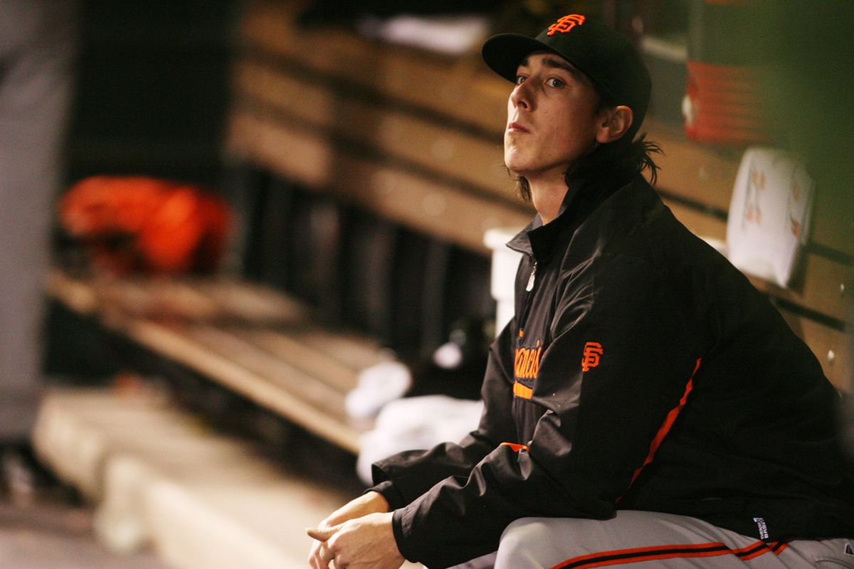 Lincecum is watching you rosterbate.