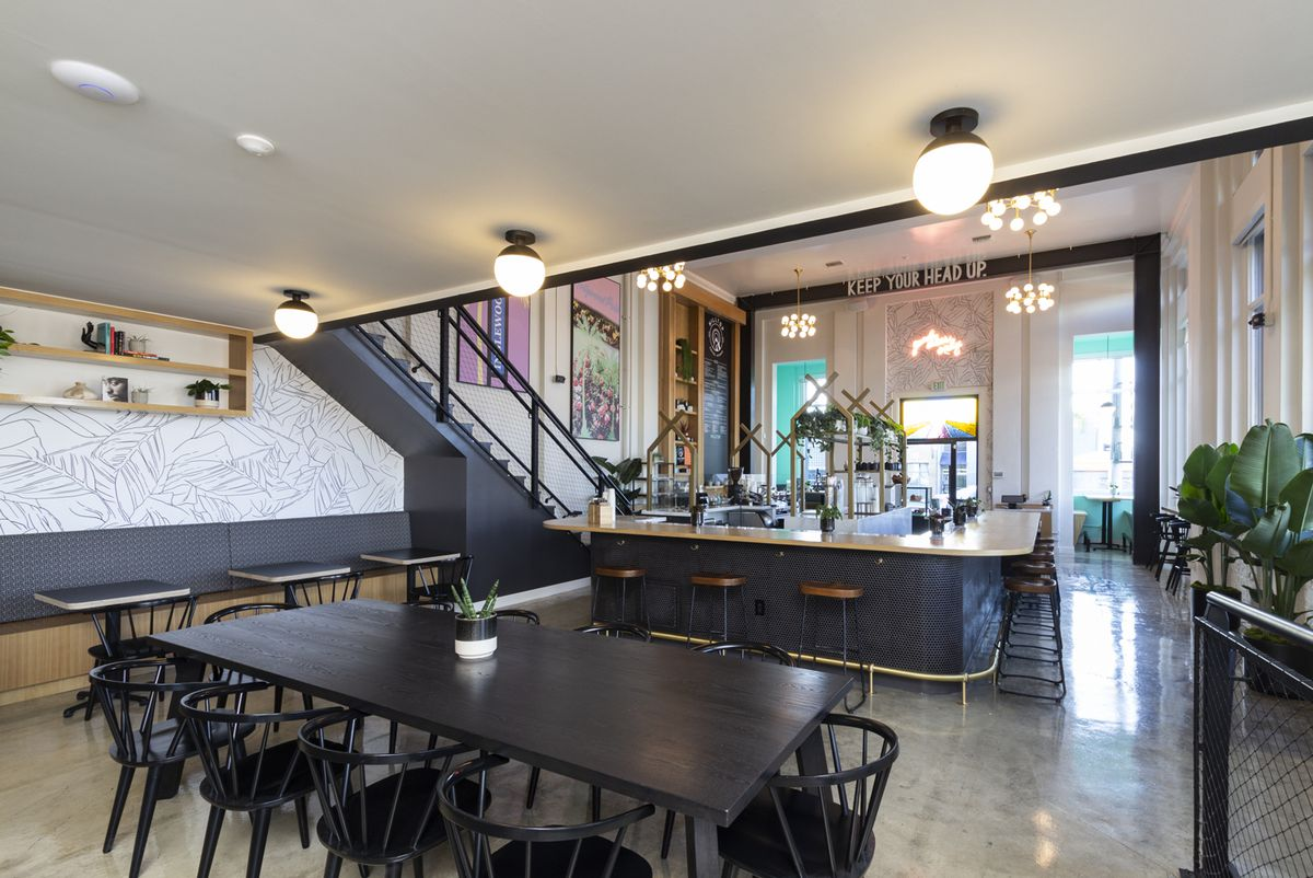 The interior of Inglewood's Hilltop Coffee + Kitchen