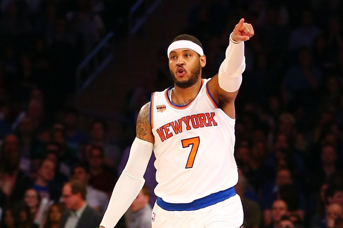 372872e77702 Report  Carmelo Anthony Trade Put On Hold - Blazer s Edge