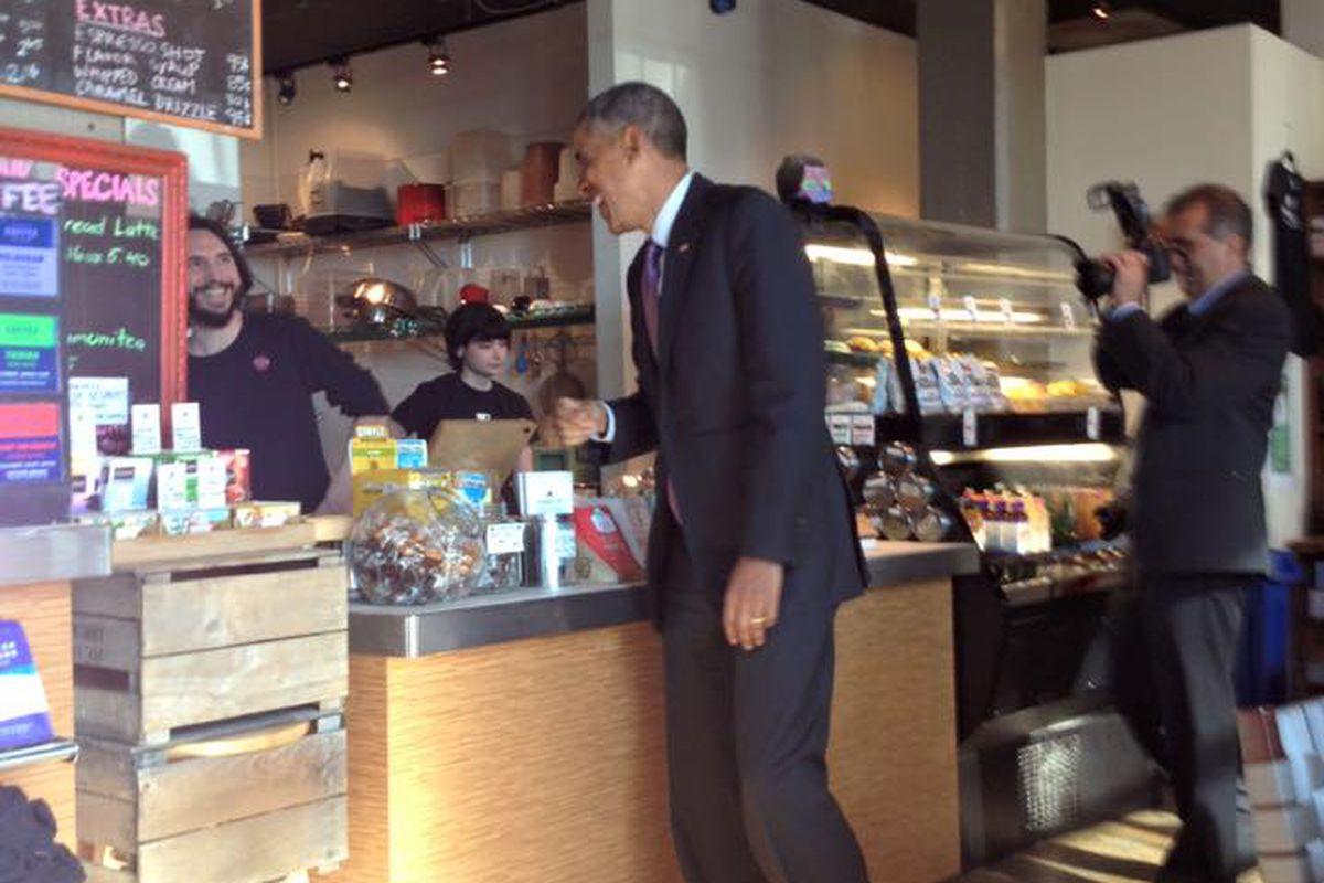 The President at Charmington's