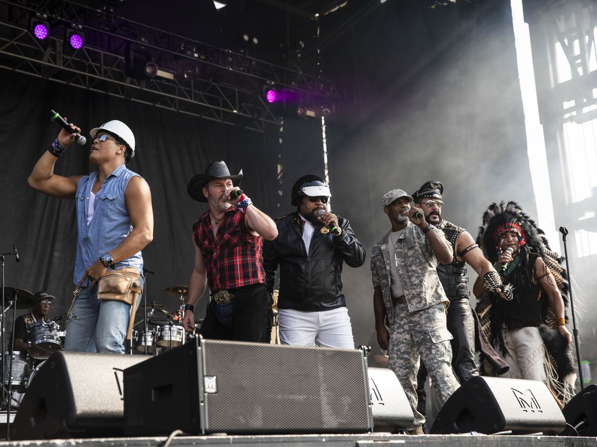 The Village People perform on day three of Riot Fest in Douglas Park, Sunday afternoon, Sept. 15, 2019.
