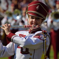 Marching Chief before the game.