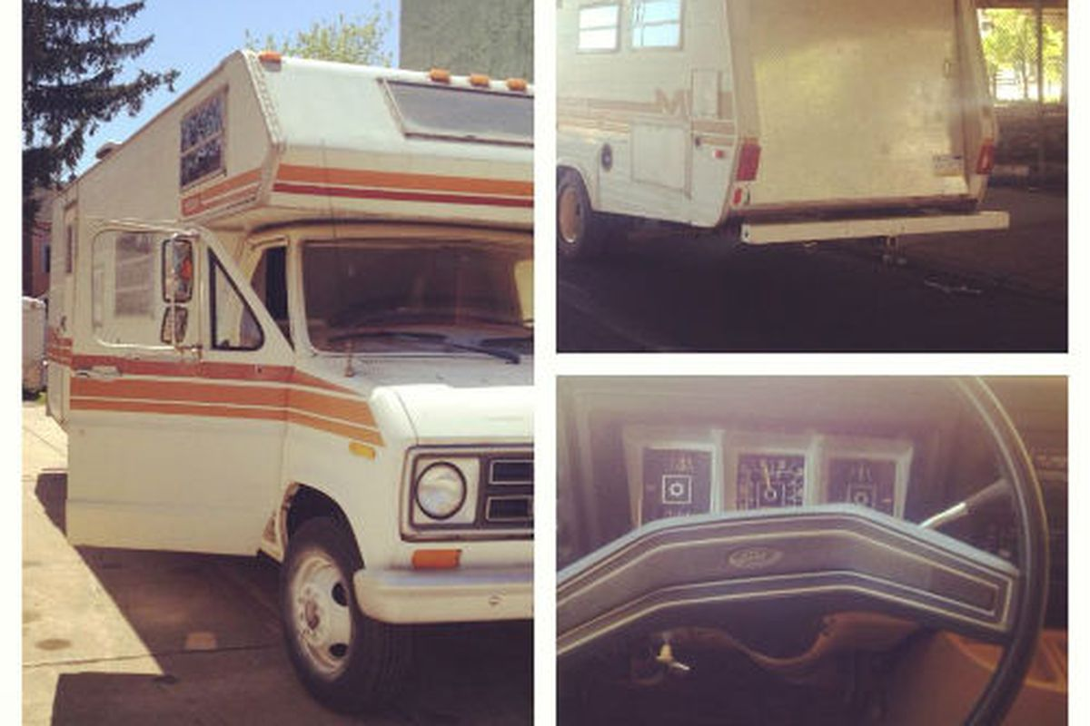 """If the RV's a rockin', don't come a-knockin'. Image credit: <a href=""""https://www.facebook.com/wildhuntvintage"""">Wild Hunt Vintage</a>"""