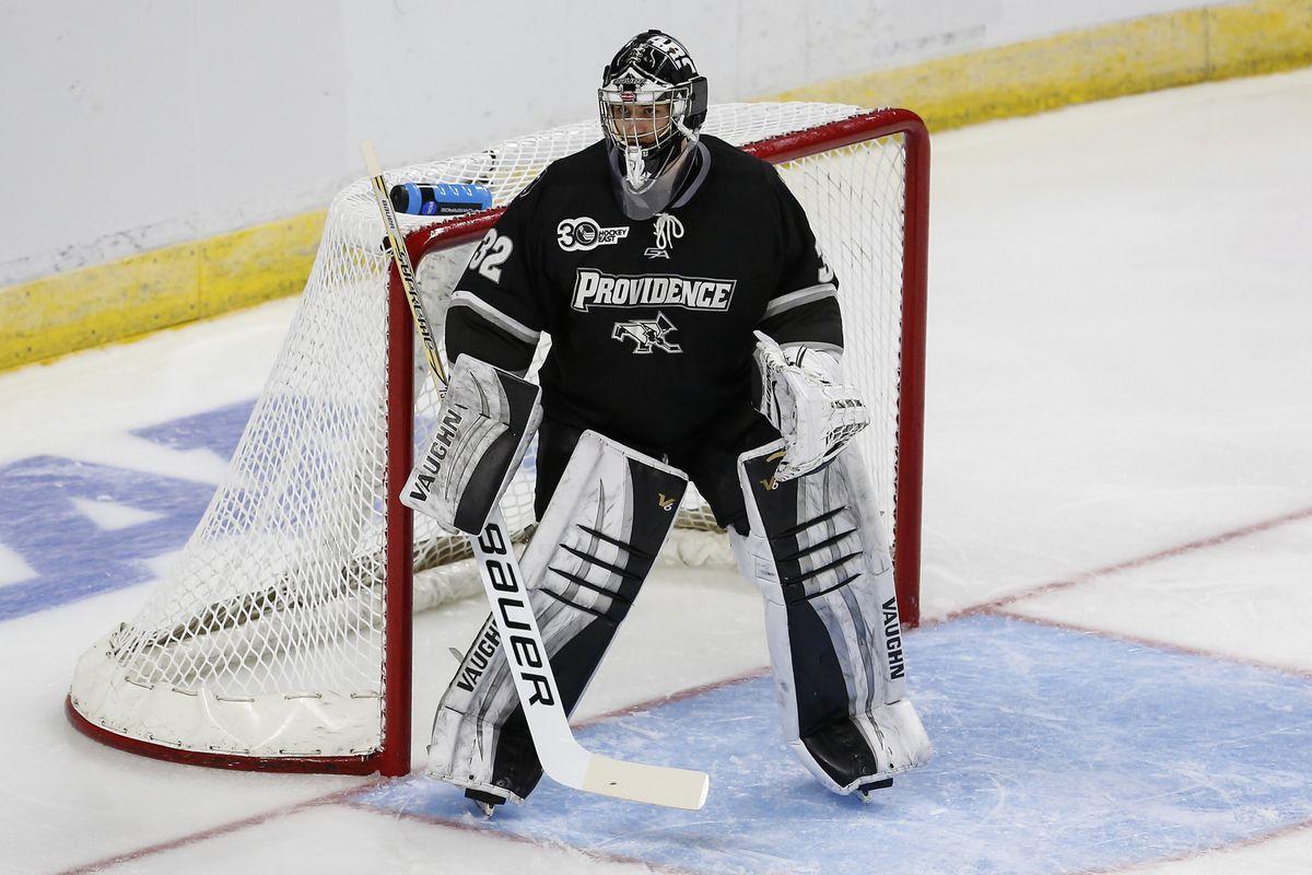 Providence junior goaltender Jon Gillies