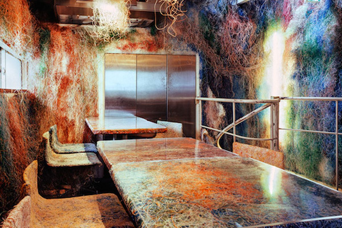 kengo kuma turns ethernet cables into wild restaurant decor - curbed