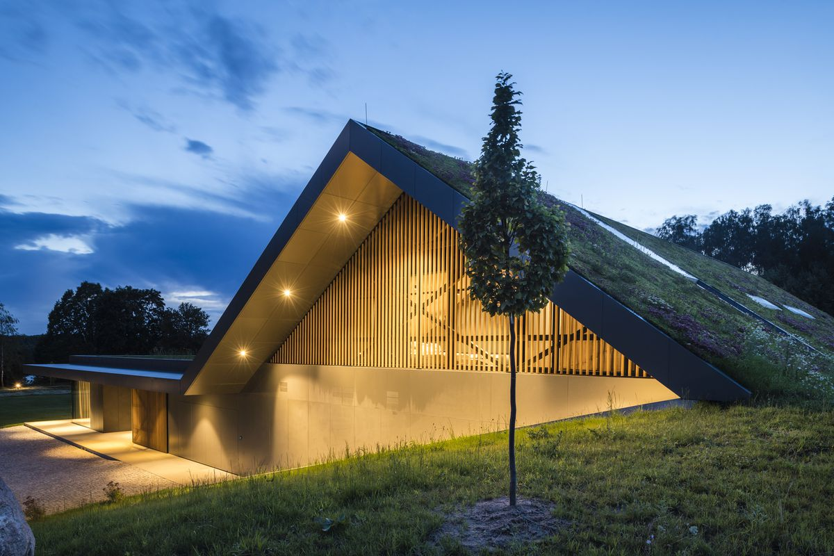 Green Roof House Becomes One With The Landscape In Poland Curbed