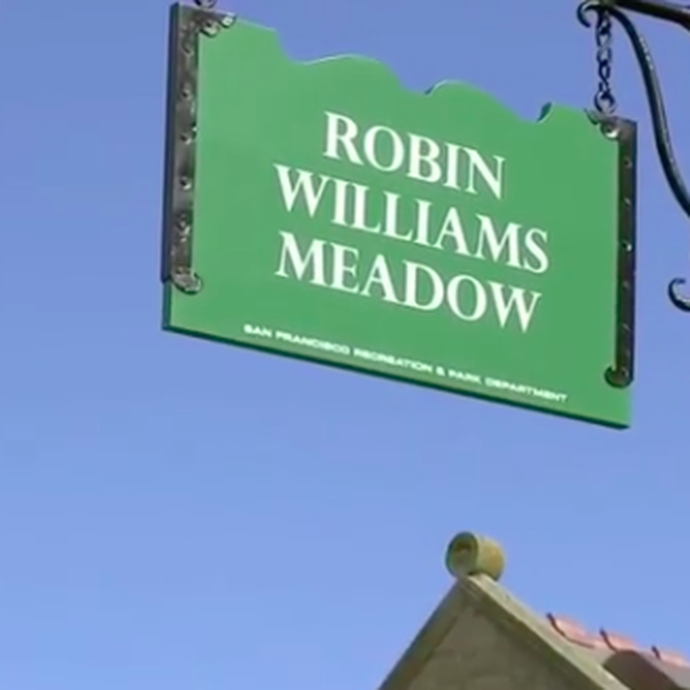 robin williams gets sign bearing his name in golden gate park