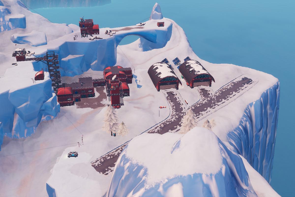 frosty flights epic games via polygon - fortnite junk junction treasure map signpost