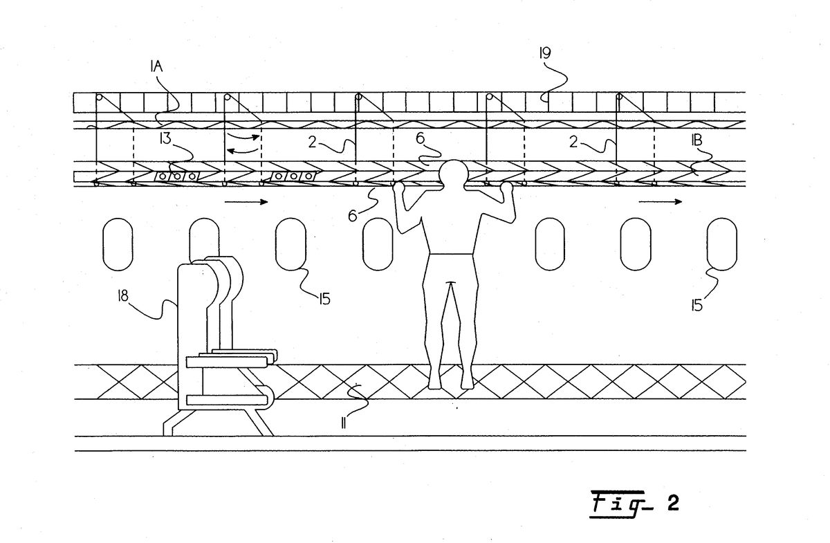 A conveyer belt for food. No more blocked aisles, and easier access to a full can of soda.