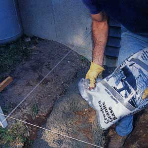 <p>LINE the trench with crushed granite; it compacts tighter and forms a more solid base than sand or gravel.</p>