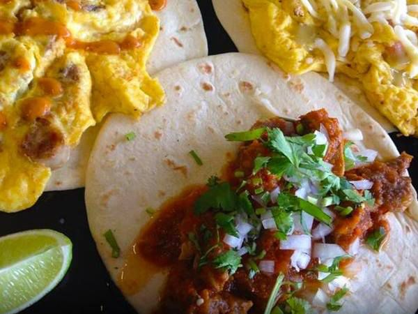 Breakfast tacos from Papalote