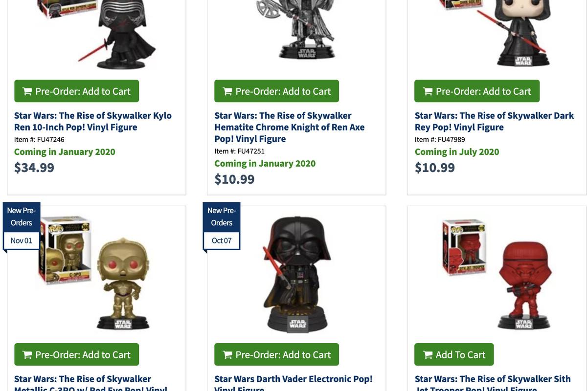 Star Wars The Rise Of Skywalker Funko Releases New Pop Figures For Dark Rey Knights Of Ren Deseret News