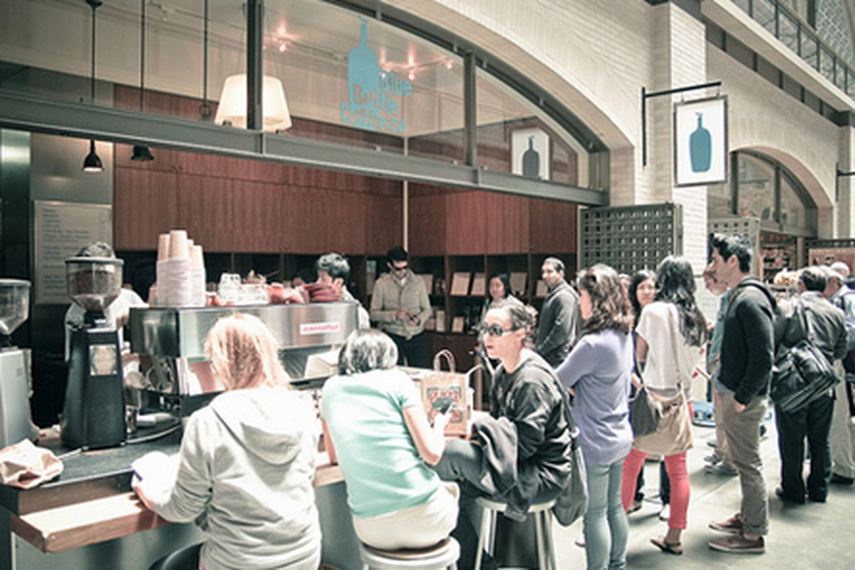 Blue Bottle at the Ferry Building.