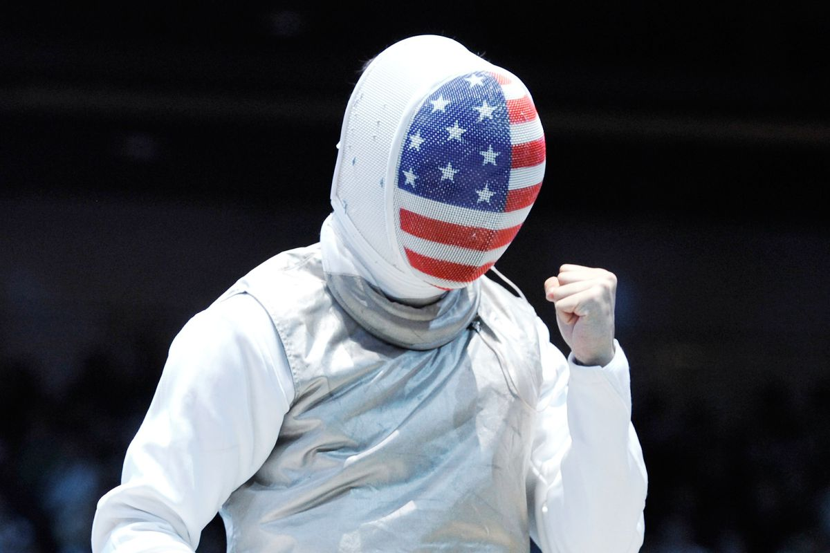 Notre Dame's new national champion foilist Gerek Meinhardt (pictured at the London Olympics, 2012).