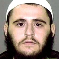 In this photo provided by the U.S. Attorney's Office in Brooklyn, N.Y., Adis Medunjanin is shown. Medunjanin is on trial in New York, accused of getting terrorism training in Pakistan by al-Qaida, then returning home to plot attacks in New York.  Medunjanin, along with high school classmates, Najibullah Zazi and Zarein Ahmedzay, after getting terror training at an al-Qaida outpost, discussed bombing New York City movie theaters, Grand Central Terminal, Times Square and the New York Stock Exchange before targeting the city's subways, a prosecutor said Monday, April 16, 2012.