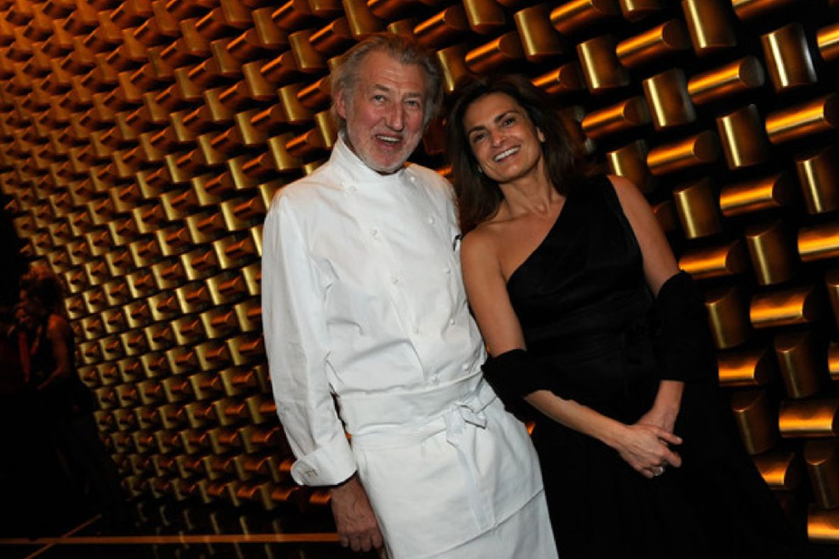 Chef Pierre Gagnaire, left, and his wife Sylvie Gagnaire.