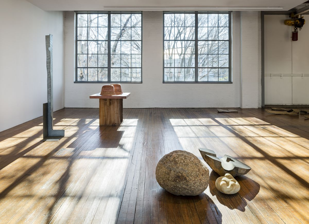 installation view self interned 1942 noguchi in poston war relocation center on view through january 7 2018 at the noguchi museum