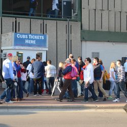 5:46 p.m. Wrigley Field Premium Tickets Booth on Addison -