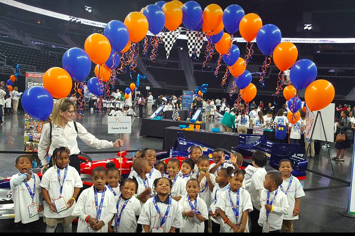 Students in LaWanda Marshall's pre-K class at Detroit's Carver STEM Academy go on field trips to places like the Grand Prix Education Day at the Palace of Auburn Hills.