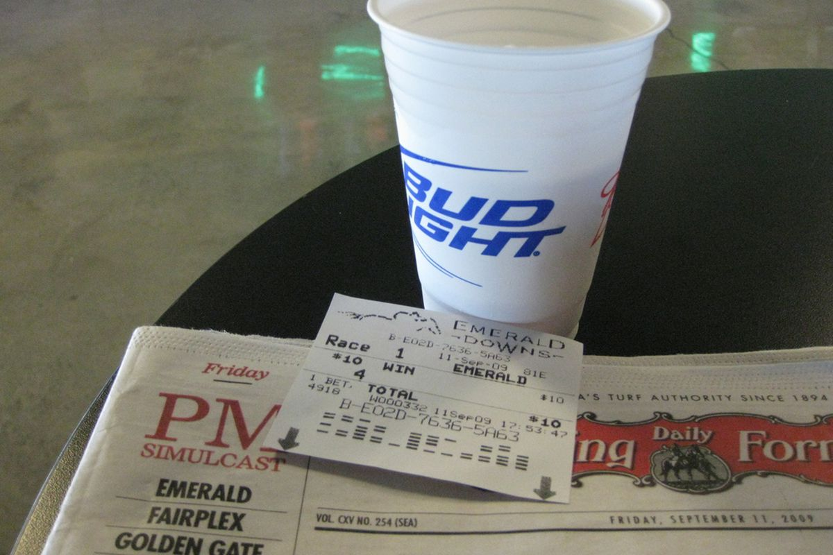 Three good things: The Form, a winning ticket, and a beer. (Photo: MattG)