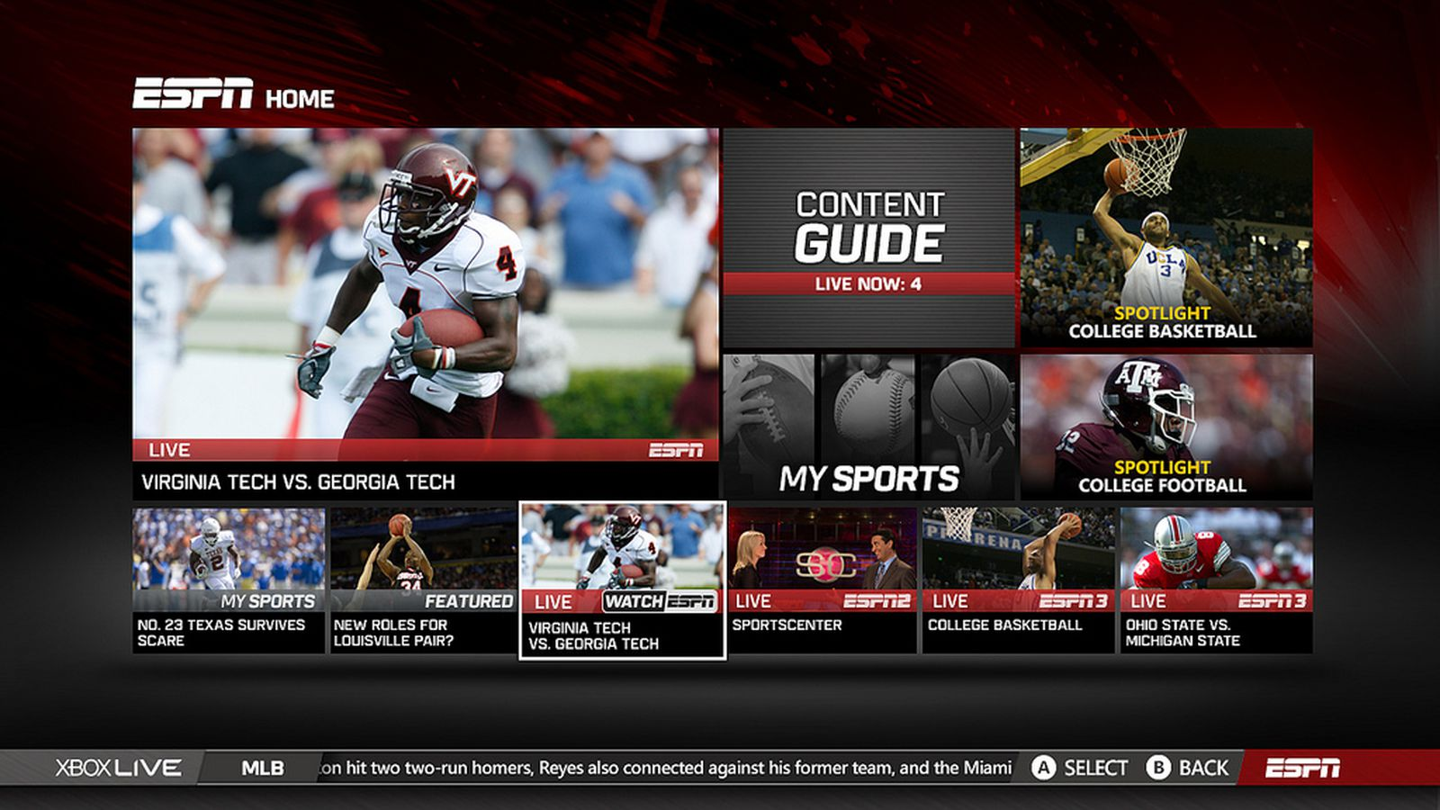 Espn2 On Dish >> ESPN app on Xbox 360 updated with all live ESPN programming - Polygon