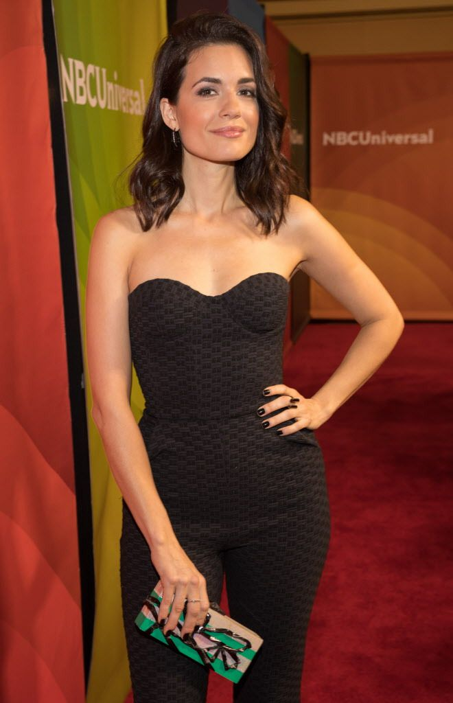 Torrey DeVitto attends the 2018 NBCUniversal Winter Press Tour in Pasadena on January 9, 2018 in Pasadena, California. | Christopher Polk/Getty Images