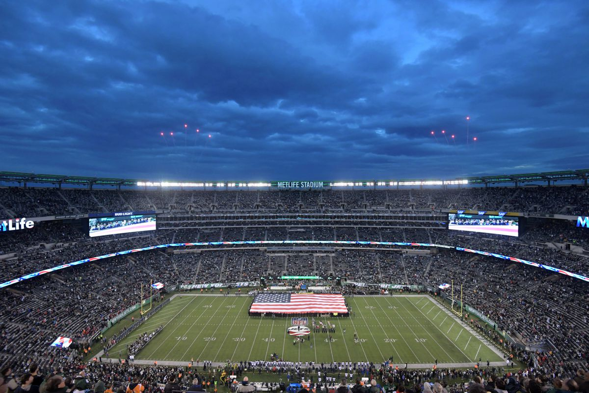 A general view of MetLife Stadium before a game between the Houston Texans and the New York Jets.