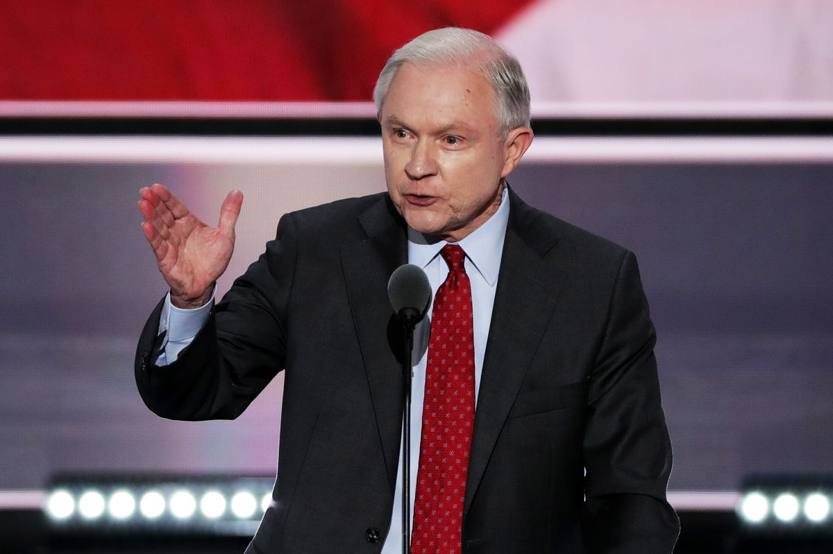 Sen. Jeff Sessions at the Republican National Convention.