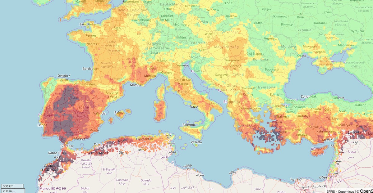 Rainfall Map Europe.Ophelia The Atlantic Storm That S Feeding Wildfires In Europe Vox