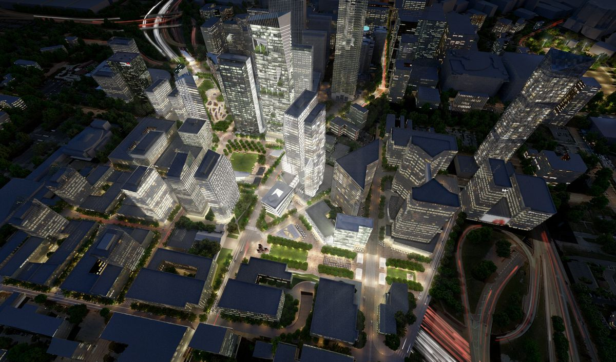 a rendering of what could become of the downtown connector