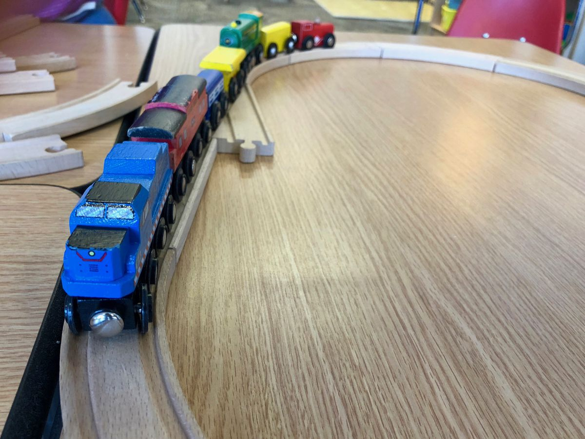 Trains are a favorite of King's students.