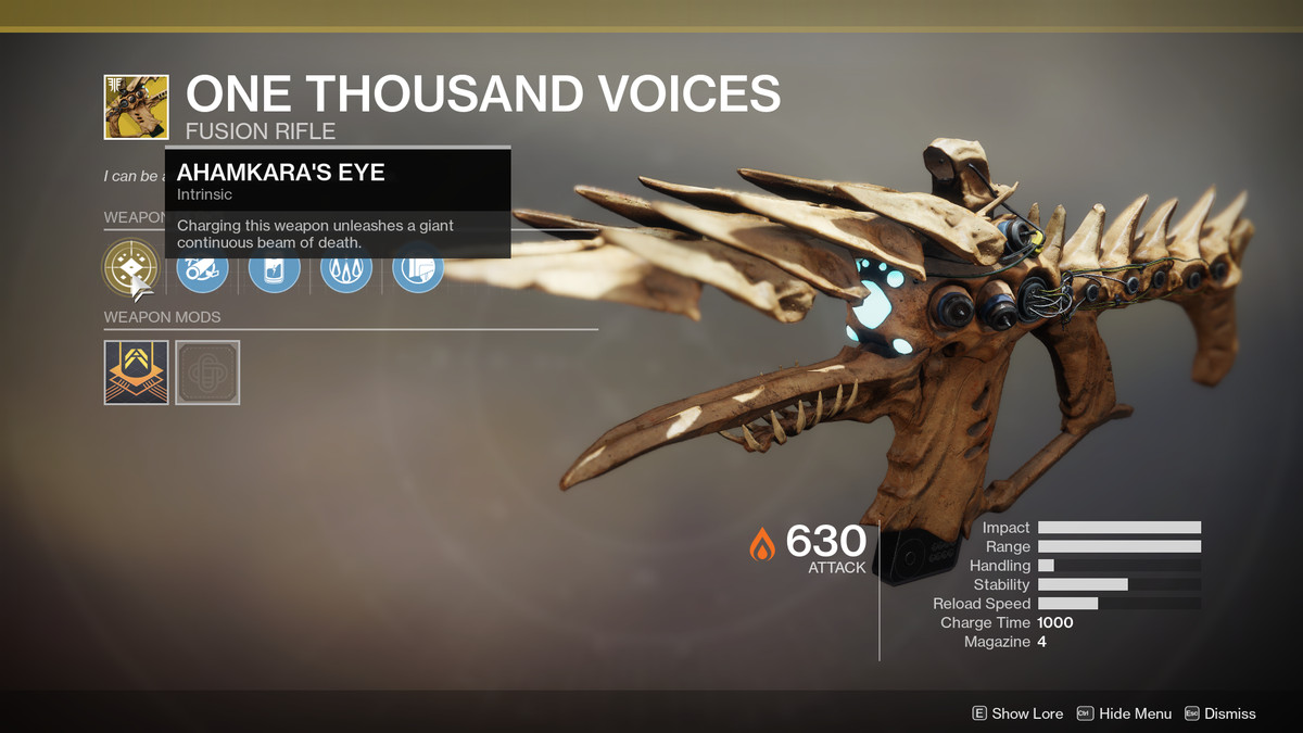 One Thousand Voices Exotic Destiny 2