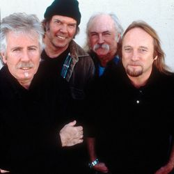 """CSNY in 1999 (left to right: Graham Nash, Neil Young, David Crosby and Stephen Stills) are the group who gave listeners """"Teach Your Children Well."""""""
