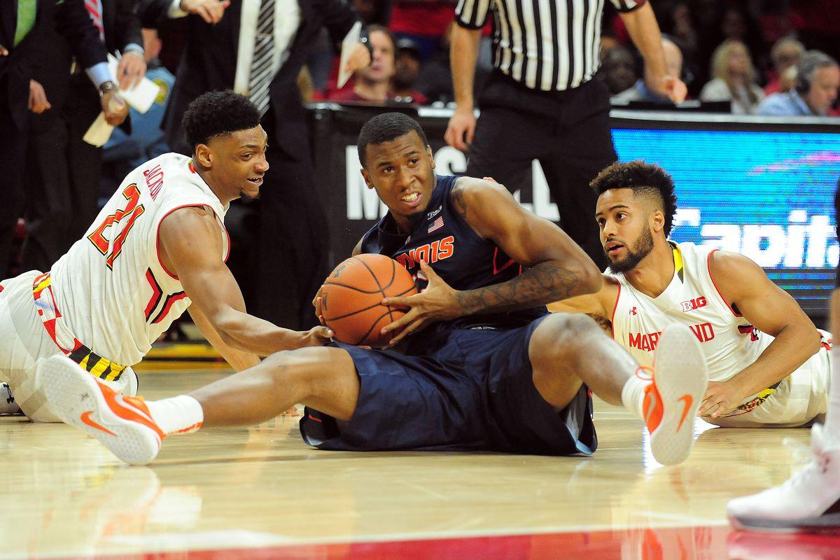NCAA Basketball: Illinois at Maryland